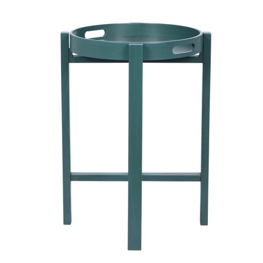 Round Folding Tray Table Teal