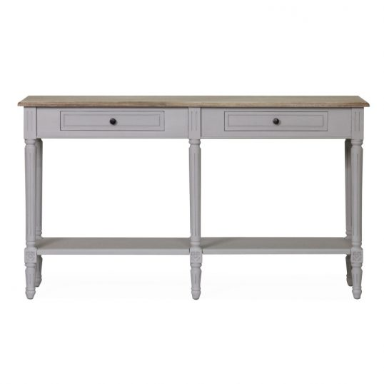 Rowan Console Table 2 Drawer – Grey