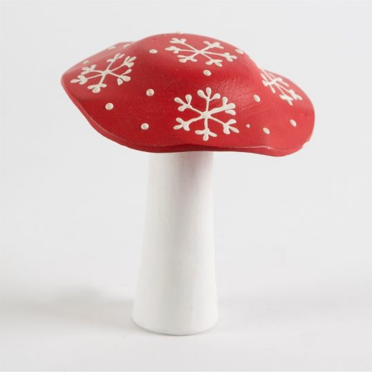 SMALL CHRISTMAS FLAT RED TOADSTOOL DECORATION