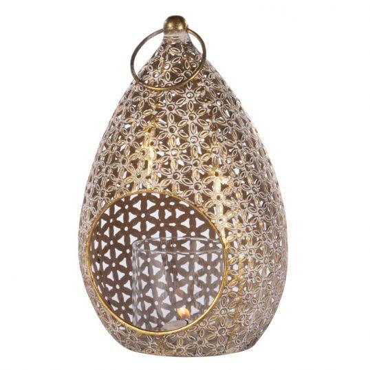 Amira convex lantern gold 28cm
