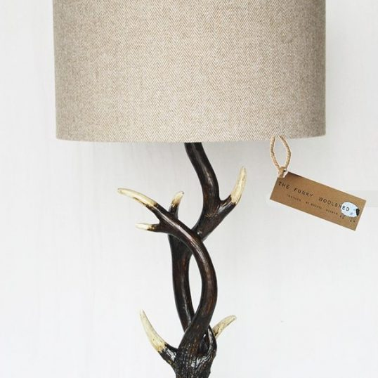 THE FUNKY WOOLSHED BUCKHORN LAMP