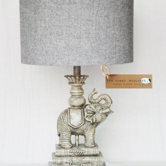 THE FUNKY WOOLSHED ELEPHANT LAMP