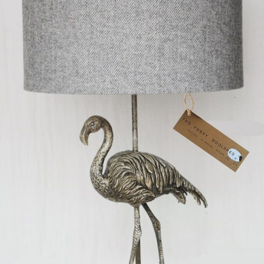 THE FUNKY WOOLSHED FLAMINGO LAMP