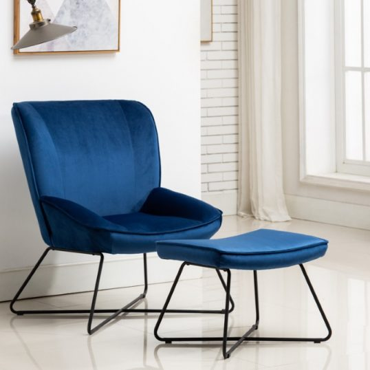 Teagan Chair & Stool Blue