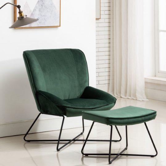 Teagan Chair & Stool Green