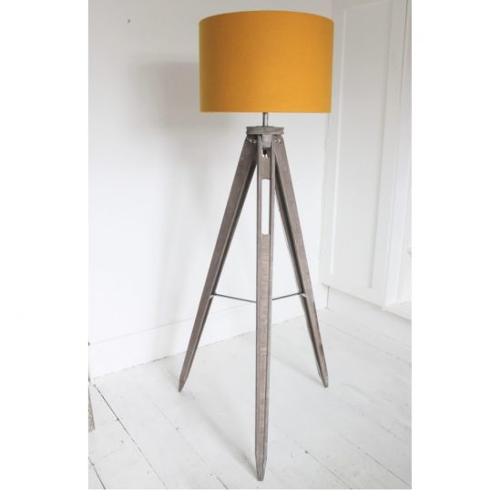 The Funky Woolshed Tripod Lamp Mustard Wool
