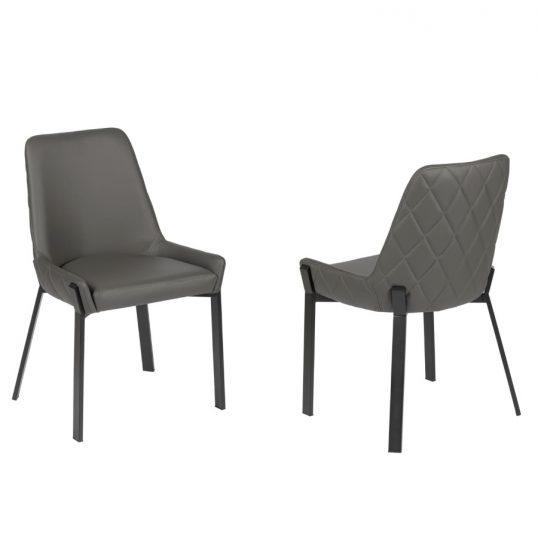 Tiffany Chair – Grey PU