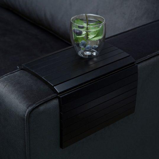 Tray black, armrest flexible – m