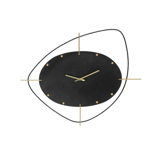 Two O'clock Clock Metal Black.jpg11