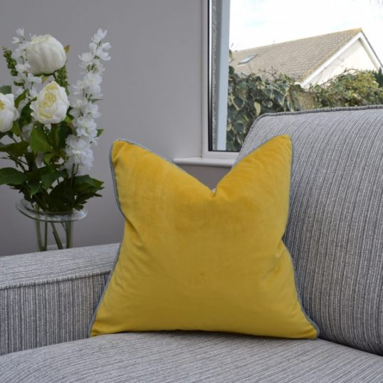 Two Tone Mustard/Grey Cushion