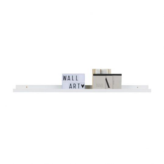 Photoframe Shelf, MDF White 120cm
