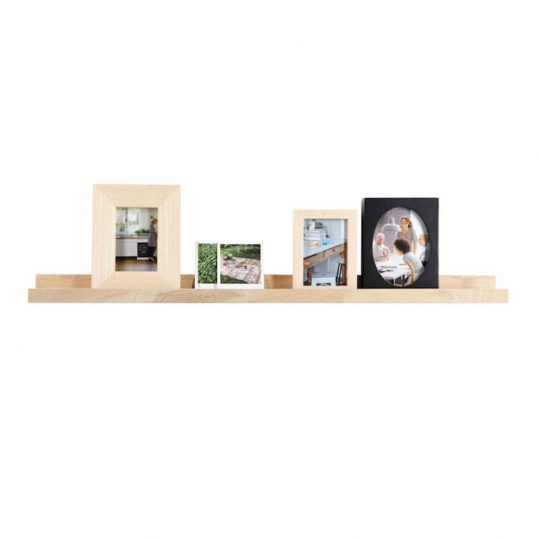 Photoframe Shelf, solid oak 100cm