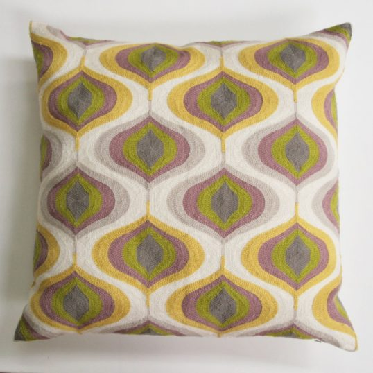 Heather And Mustard Deco Cushion