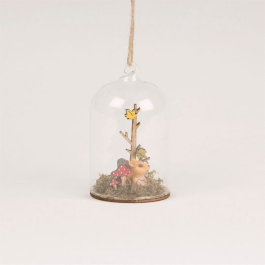 WOODLAND FUN SQUIRREL DOME BAUBLE