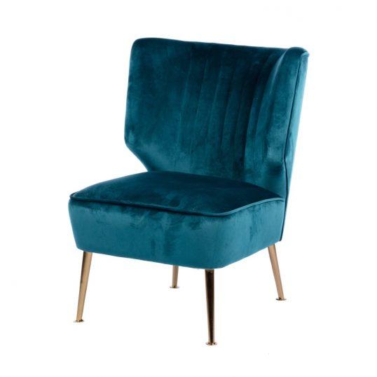 Easton accent chair teal velvet