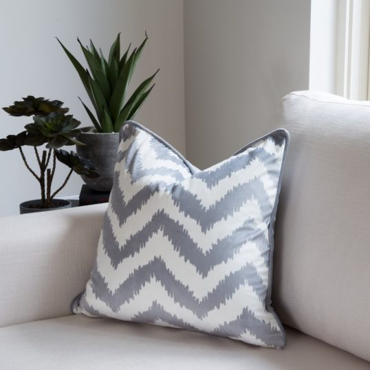 CHEVRON GREY CUSHION