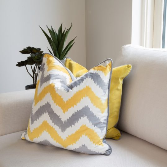 CHEVRON MUSTARD CUSHION