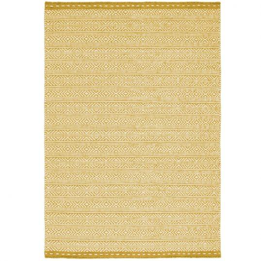 Knox Ochre Geometric Wool Rug
