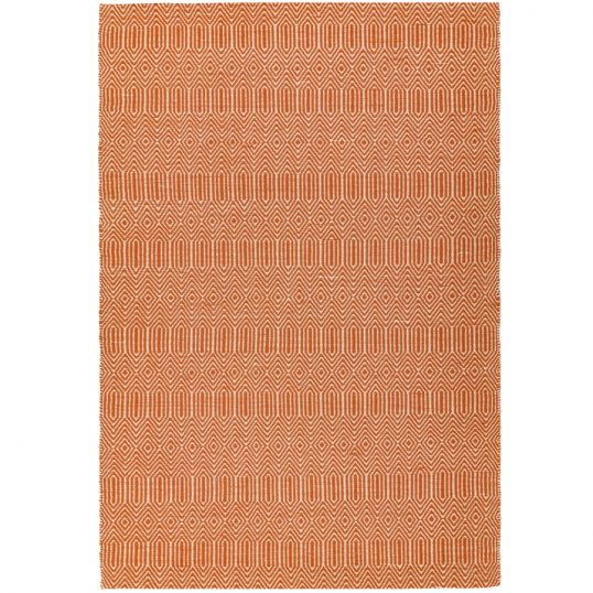 Sloan Orange Geometric Rug