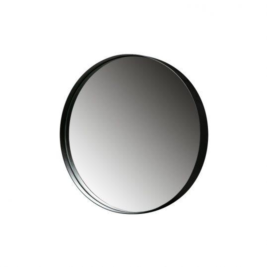 Zen Round Mirror Metal Black